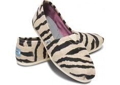 I could wear the hell out of these crazy shoes. (TOMS Zebra Women's Vegan Classics)