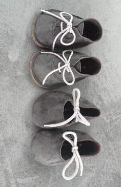 Grey baby booties because we'll have little ones wandering around all that paint someday!