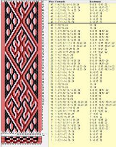 24 tarjetas, 4 colores, repite cada 40 movimientos // sed_460 diseñado en GTT༺❁