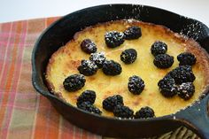 Menus and Meals for Moms: Dutch Baby Pancake with Blackberries