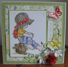 Zoe - one of my older cards embellished with flowers