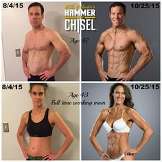 Testimonial ~ My wife, Tammy, and I are incredibly thankful and grateful to have been part of the test group for The Master's Hammer and Chisel (60 day program). We've kept going beyond round 1, now doing round 2. I felt compelled to share our before/after photos after 83 days. FEEL FREE TO SHARE. So I'm sharing! Who's ready to try #HammerAndChisel? Let's connect. Email me at GetFit2StayHealthy@gmail.com with your goals and lifestyle. Let's #EndTheTrend and #GetFit2StayHealthy!