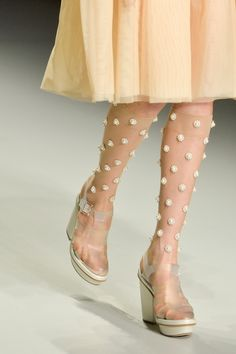 Simone Rocha SS 2014   knee highs??  what about lace trim or jewls or hey little penguins