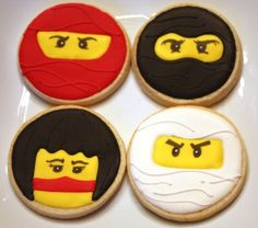One dozen Ninja cookie favors.36.00, via Etsy.