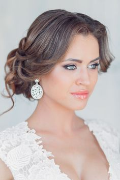 wedding updos picture / http://www.deerpearlflowers.com/26-perfect-wedding-hairstyles-with-glam/