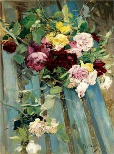 ❀ Blooming Brushwork ❀ garden and still life flower paintings - Still Life with Rose - Giovanni Boldini