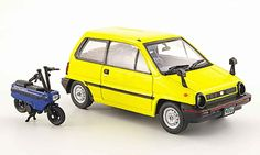 Honda City yellow avec Motocompo Minimotorrad 1981 Ebbro diecast model car 1/43 - Buy/Sell Diecast car on Alldiecast.us