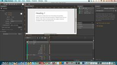 Testing of Adobe Edge Animate. Perhaps this is the best IDE for CSS. Complete with the ability to HTML5, CSS3 and JavaScript-based animations.