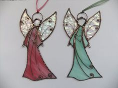 Stained glass Angel. Hanging suncatcher. Christmas от mamichka