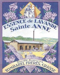 Essence of Lavender Provence Lavender, French Lavender, Lavender Blue, Lavender Fields, Lavander, Vintage Labels, Vintage Ephemera, Vintage Cards, Vintage Poster