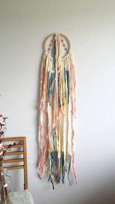 Modern dream catcher wall hanging. Long. Wall by UpTheWallflower