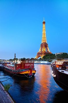 Paris - on one of these boats, they film a series called L'Amour est dans la Pré - Love is in the Fields