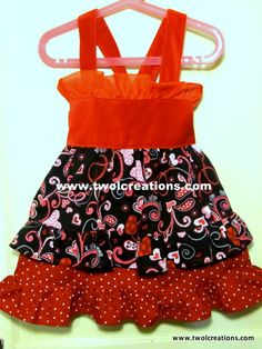 Valentine's Dress for a sweet little girl 1824 by TwoLCreations, $52.00