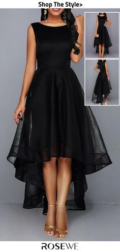 Homecoming – Sleeveless black patchwork dress with high waist – Winter Dresses Bloğ All Black Dress Outfit, All Black Dresses, Dressy Dresses, Dresses For Teens, Elegant Dresses, Cute Dresses, Beautiful Dresses, Midi Dresses, Sexy Dresses