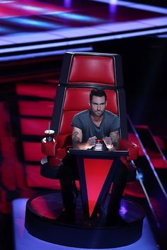Adam looking serious during auditions. #TheVoice