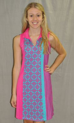 women's summer clothing, Sleeveless Multi Print Dress, Dress, Bette & Court, X-Small, , ladies golf and tennis fashion, golf accessories - From the Red Tees
