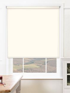 Sevilla Tranquility Cream Blackout Roller Blind from Blinds 2go (Wed delivery)