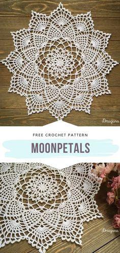 Crochet Thread Patterns, Free Crochet Doily Patterns, Crochet Motifs, Crochet Designs, Crochet Dollies, Crochet Flowers, Crochet Crafts, Crochet Projects, Pineapple Crochet