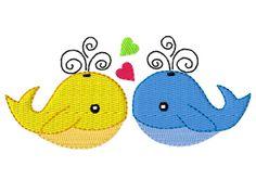 Stickmuster Stickdatei Embroidery Design Animal Wale by www.Stickmuster.org. Dein Shop für Stickmuster / Stickdateien. Your Embroidery Designs Shop.
