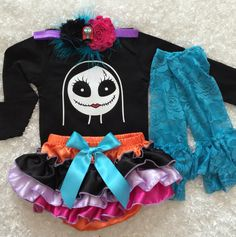 Nightmare Before Christmas/Sally costume/First Halloween/ Jack Skellington