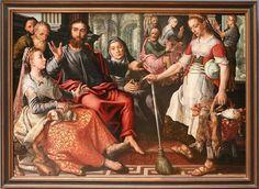 Pieter Aertsen, Gesù in Casa di Marta e Maria, 1559, 01.