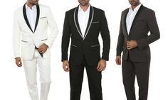 Mens Slim-Fit Fashion Suit (2-Piece) for $80 http://sylsdeals.com/mens-slim-fit-fashion-suit-2-piece-80/