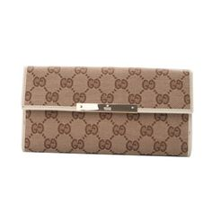 Gucci Continental Wallet with Trademark Engraved Plate Off-white