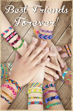 Make friendship bracelets @Diana Keesling found this and some would be perfect for that bracelet maker thing. A few are a bit more complicated for the ones who want a bigger challenge. :)