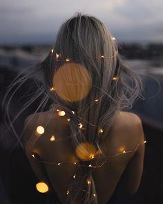 El cabello con luces