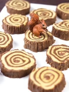 Fudge Tree Ring Tutorial - maybe white and milk chocolate instead of peanut butter?