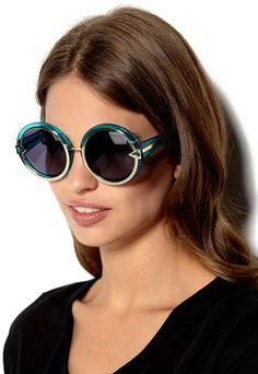 a71219bf59 Karen Walker Eyewear Orbit Sunglasses Crystal Turquoise Karen Walker, Shoes  Online, Round Sunglasses,
