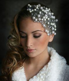 Bridal Hat, Wedding Headband, Fascinator Headband, Chain Headband, Floral Fascinators, Bridal Headpieces, Tiara Hairstyles, Wedding Hairstyles, Fancy Hats