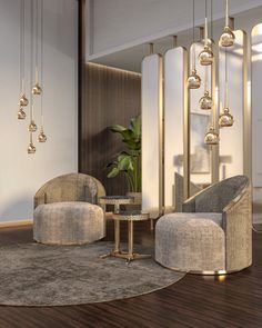 Crystaline Suspension - Ceiling lights - CASTRO LIGHTING - Other - Crystal | MOM Modern Interior, Interior Design, Lobby Interior, Vide Dressing, Home Room Design, Lounge Areas, House Rooms, Living Room Decor, Luxury Lighting