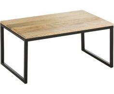 Couchtisch Ollie, Tischplatte: Mangoholz., Gestell: Schwarz, matt Table, Furniture, Designs, Home Decor, Medium, Decoration, Homes, Decor, Decorating