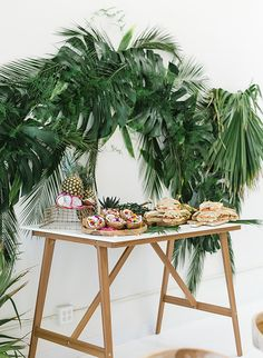 Papaya & Palm Leaves Tropical Baby Shower - Inspired By This