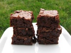 The best Fudgy Brownies *ever* (formulated for high altitude, but will work at lower altitudes)
