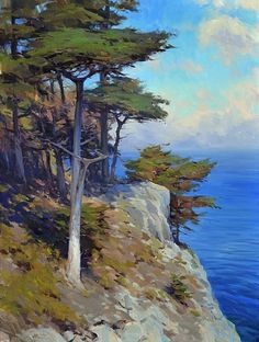 Point Lobos by Jesse Powell Oil ~ 48 x 36