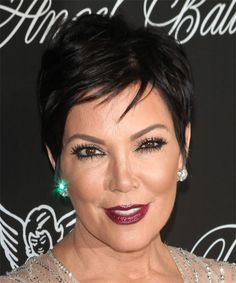 Kris Jenner Short Straight Casual Hairstyle - Black | TheHairStyler.com