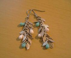 Leaf Earrings vintage silver by valnstuff