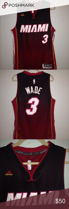 Dwayne Wade Miami Heat Swingman Jersey (M) 🔥 Where it all started for D-Wade. 3x NBA champion. Jersey is gently used, only major thing is player ID tag stitching is coming out a tiny bit but that can easily be sewn, I just can't sew! Any questions, feel free! Look at pics! 🏀👌🏼 -Bruce adidas Other