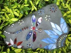 how to make Dragonfly Mosaic Stones