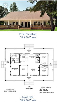 Home Floor Plans With Office House Plans Metal House Plans, Pole Barn House Plans, Pole Barn Homes, Ranch House Plans, Best House Plans, Dream House Plans, Small House Plans, House Floor Plans, Dream Houses