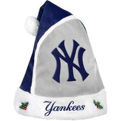 Forever Collectibles MLB 2015 Santa Hat, New York Yankees, Size: 17 inch, Blue