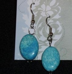 Howlite Drop Earrings by YouniquelyElegant on Etsy, $6.95
