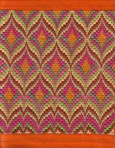 Discover thousands of images about Bargello Fantasy Needlepoint, Periwinkle variations Broderie Bargello, Bargello Needlepoint, Bargello Quilts, Needlepoint Stitches, Needlework, Hand Embroidery, Embroidery Designs, Bordado Tipo Chicken Scratch, Bargello Patterns