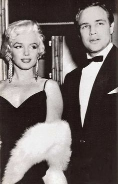 REPINNED FROM https://www.pinterest.com/specialeamanda/vintage-classic/ *Marilyn Monroe & Marlon Brando According to Brando, he and Marilyn had an affair in the early 1950s and remained good friends until her untimely death in 1962.