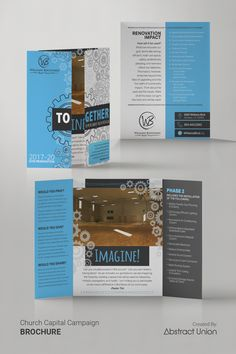 EASY OPTION: Get custom brochure design, print, & ship! Browse church campaign case statement ideas and instant quotes. Brochure Design Inspiration, Design Ideas, Corporate Brochure, Brochure Ideas, Mailer Design, Grant Writing, Charity Organizations, Fundraising, Annual Reports