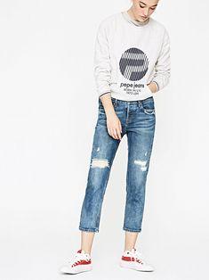 Купить джинсы зауженные книзу Pepe Jeans в js-online.ru. Скидки до 70%. Pepe Jeans, Pants, Fashion, Trouser Pants, Moda, La Mode, Women's Pants, Fasion, Women's Bottoms