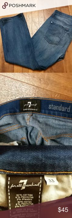 Sale! 7 for all mankind performance 33×28 great jeans, would look great with a pair of boots! Men's jeans,  but I believe can be unisex 7 For All Mankind Jeans Straight