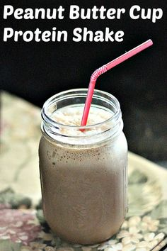 Peanut Butter Cup Protein Shake - My go-to snack when losing weight!
